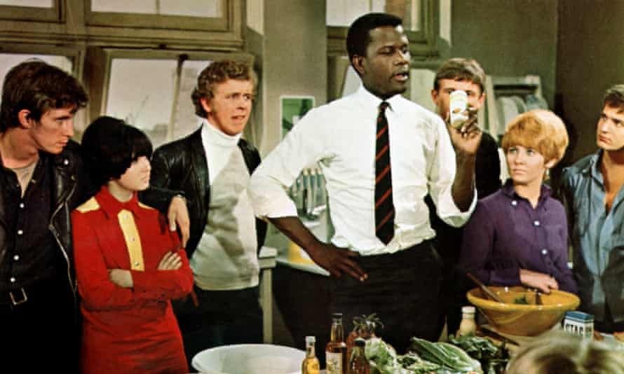 SIDNEY POITIER and LULU in TO SIR, WITH LOVE' (1967) Directed By JAMES CLAVELL.
