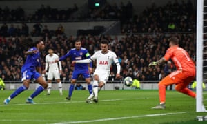 Dele Alli is in the right place to slot the ball home.
