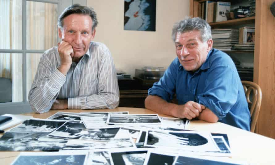 Jean Mohr, left, with John Berger in 1988. They worked on several books including A Fortunate Man: The Story of a Country Doctor, and A Seventh Man.
