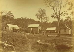 Australian South Sea Islander quarters at the Cedars plantation, 1883.