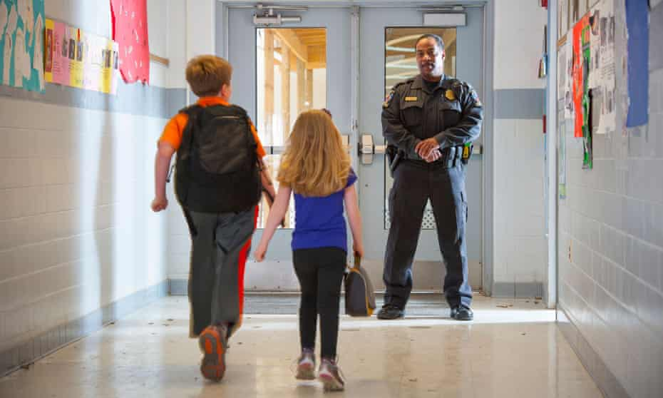 'Students at schools with police are five times more likely to be arrested for disorderly conduct than students in schools without police.'