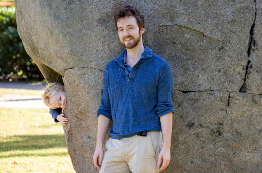 Author David Freed with his son
