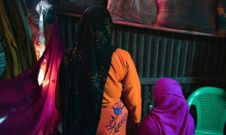 A Rohingya rape victim with her mother in Cox's Bazar refugee camp.