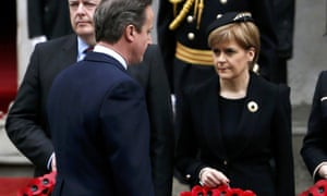 Nicola Sturgeon and David Cameron at the Cenotaph