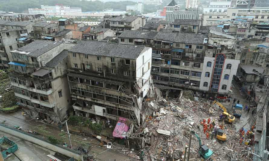 Building collapse, Wenzhou City.