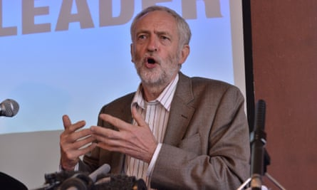 Jeremy Corbyn, speaking in Leeds today as he launched his economic plans for the Labour party.