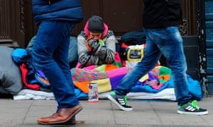 Homeless men in Windsor.
