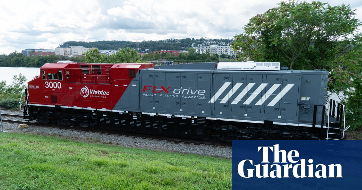 'Dramatically more powerful': world's first battery-electric freight train unveiled