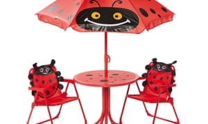 Ladybird patio set of table and 2 chairs