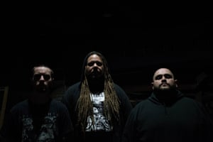 Ethan McCarthy (centre) with Primitive Man.