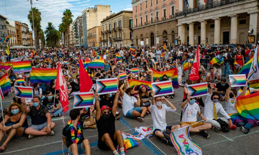 A Pride demonstration in Bari on 18 July.