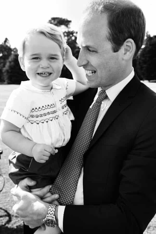 Prince William, Duke of Cambridge and his son Prince George  by Mario Testino