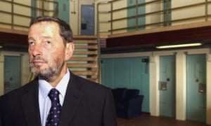 David Blunkett, then home secretary, at Feltham young offenders' institute in 2003.