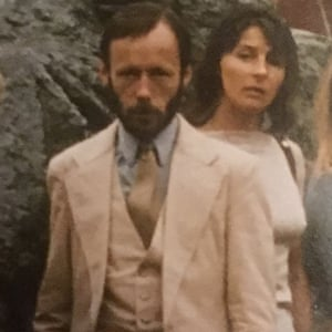 Brett Anderson's father, Peter, and mother, Sandra, in 1980.