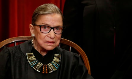 Ruth Bader Ginsburg in 2017. Her death sets up a landmark battle for the court's future.