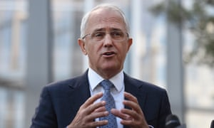 Australian prime minister Malcolm Turnbull.