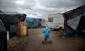 A child in the refugee camp in Calais.