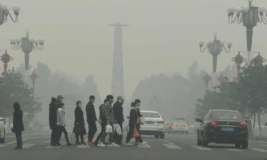 Smog in Changchun, Jilin province, China