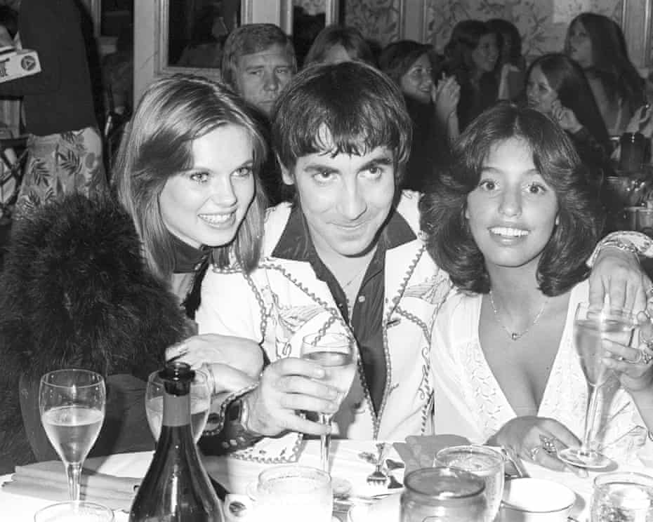 Keith Moon, drummer with the Who, pictured in 1974 with girlfriend Annette Walter-Lax, left, and Lori Mattix.