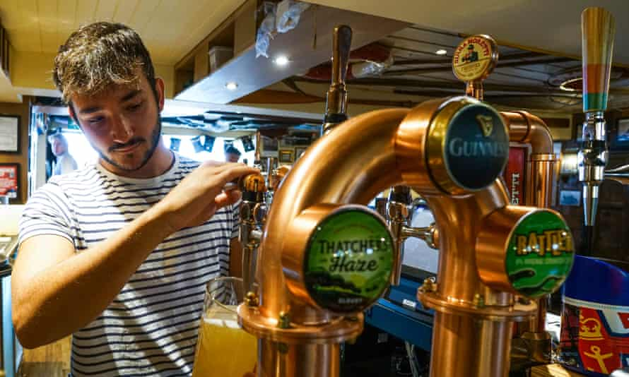 Pubs fared relatively well, but sales were still down 45% compared with July 2019