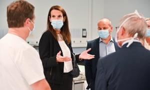 Wilmès à l'hôpital Chirec, Bruxelles.