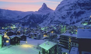 The Swiss resort of Zermatt is dominated by views of Matterhorn.