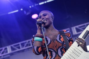 Laura Mvula performs on stage