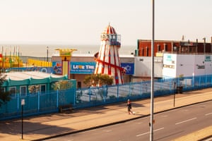 A quiet funfair in Southend. Few people ventured out except to shop for food and go for exercise.