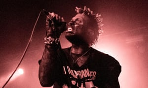 Wizards of chaos ... Ho99o9's Eaddy at the Garage, London.