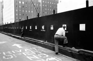 Construction site, Lower Manhattan, 1979