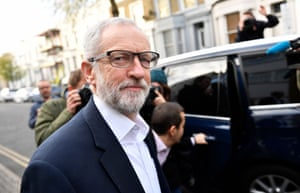 London, UK The Labour party leader, Jeremy Corbyn, leaves his home in north London on his way to Westminster