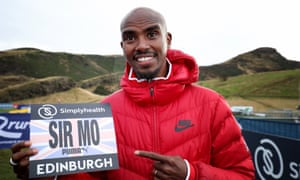 Sir Mo Farah will be introduced with his new title for the first time before the Great Edinburgh XCountry.