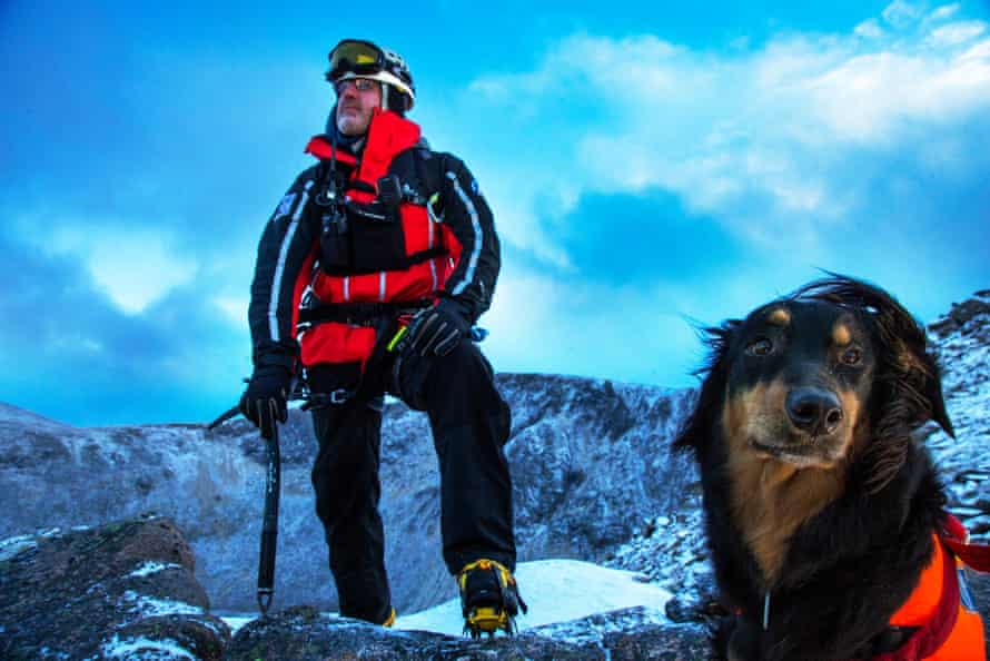 Handler Daz Steatham and his search dog Cassie