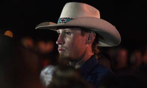Johnny Langendorff looks on during a vigil in Sutherland Springs, Texas.