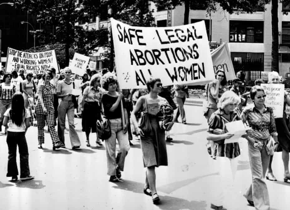 Women protest in New York to demand safe legal abortions for all women.