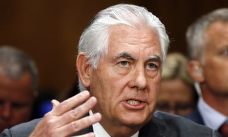 Rex Tillerson, the US secretary of state. The department has raised doubts about Saudi Arabia and its allies' actions over Qatar.
