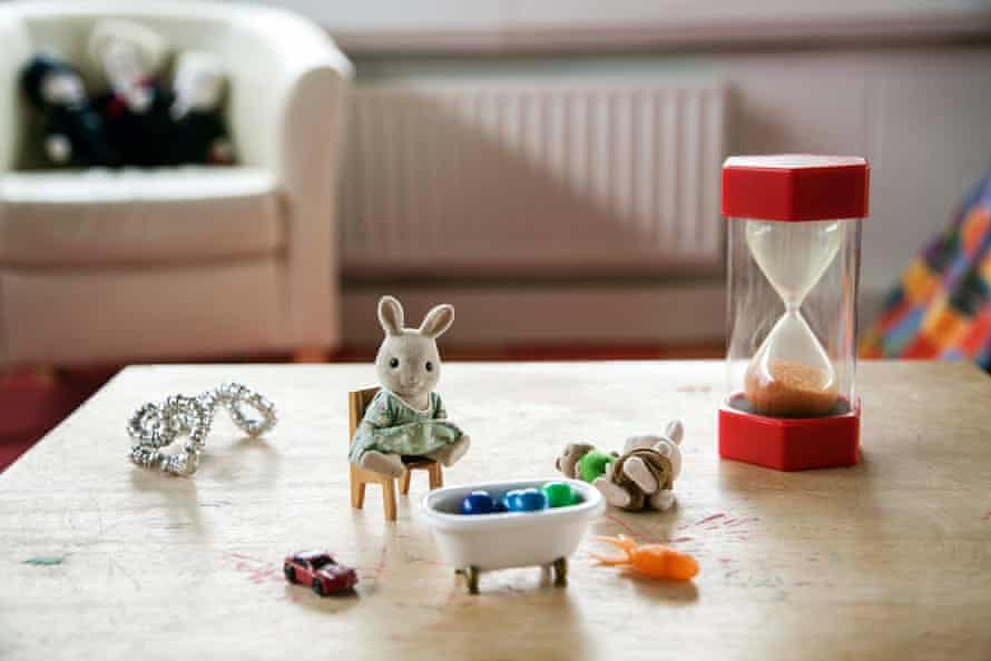 Toys on a table at a playroom run by Triangle, an organisation that helps children give evidence