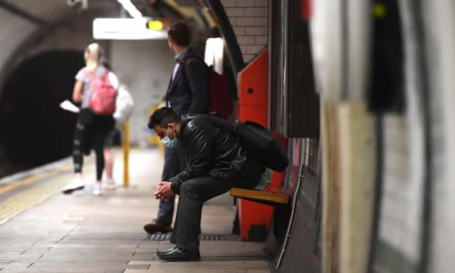 Man on tube platform