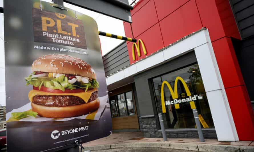 In 2019 and early 2020, McDonald tested a plant-based burger product it called the PLT at some Canadian locations.