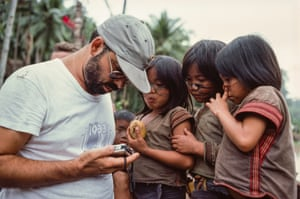 Coppola tapes some local children. The director edited down the epic from around a million feet of film, repeatedly pushing back the release date.