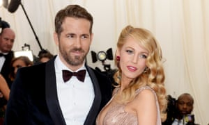 Family man: with his wife Blake Lively.