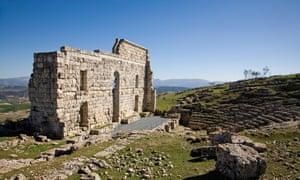 Roman theatre in Acinipo, Ronda, Andalusia