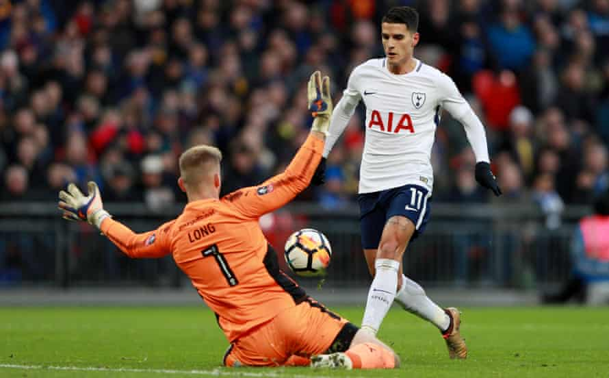 Érik Lamela, in action here against AFC Wimbledon this month, says: 'I had the doctors telling me I'd get back to my level but your head doesn't let you relax.'