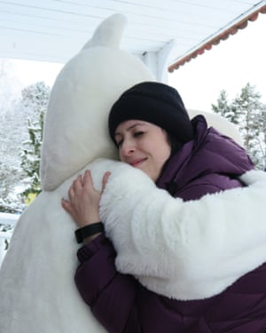 Rhianna Pratchett visiting Moominworld in Naantali.