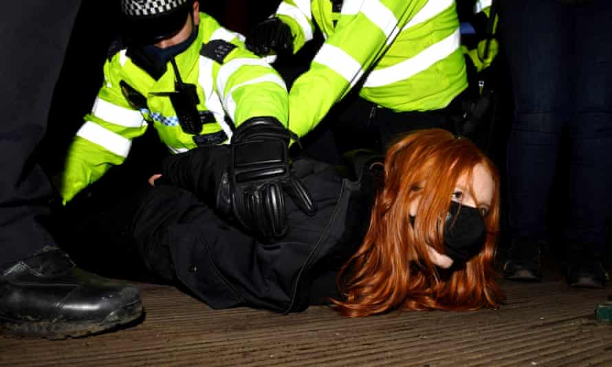 Patsy Stevenson is arrested at a vigil in memory of Sarah Everard