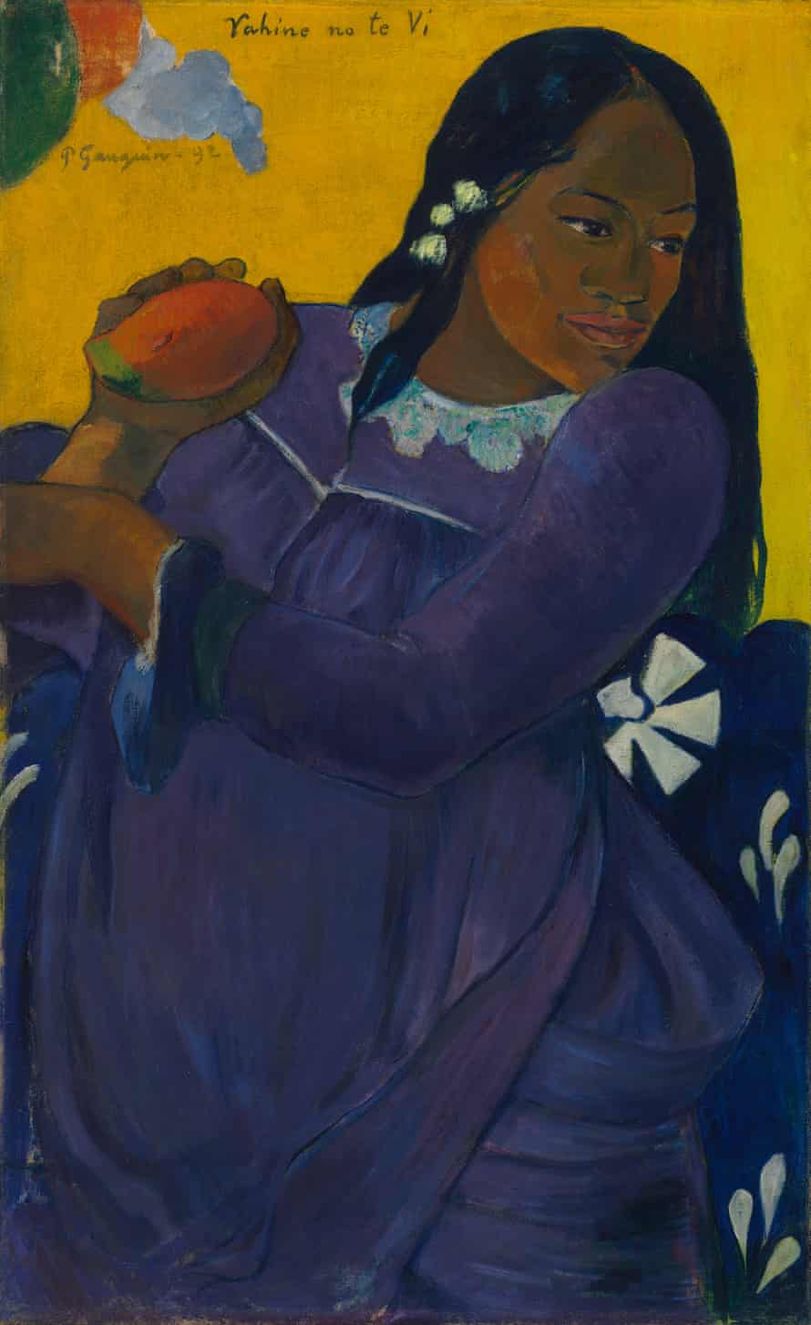 More from the missionary wardrobe … Gauguin's Woman of the Mango.