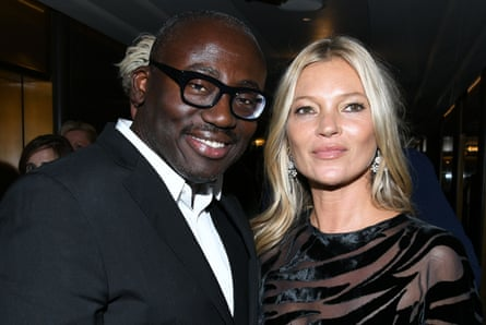 Edward Enninful and Kate Moss at The Daily Front Row Fashion Media Awards, Inside, Spring Summer 2020, New York Fashion Week, USA - 05 Sep 2019