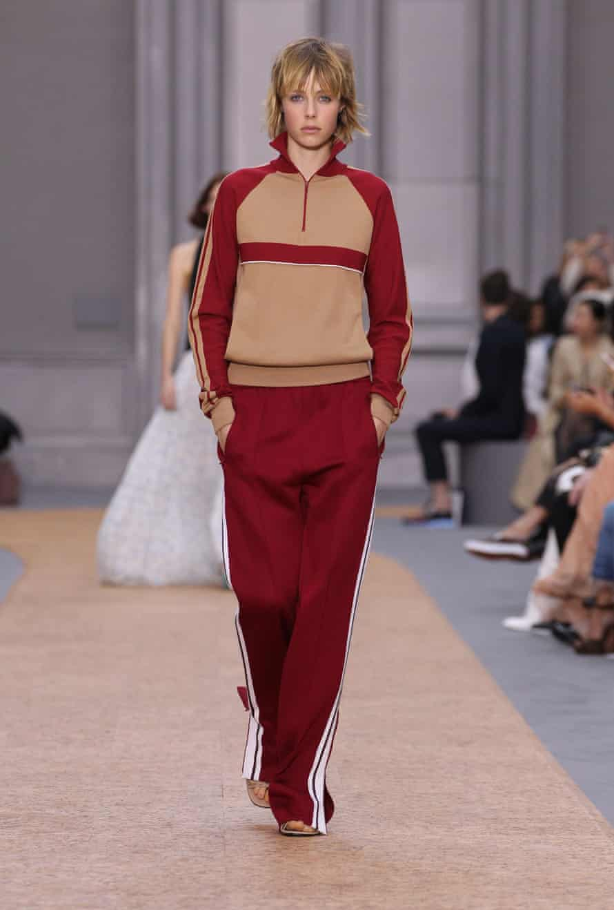 The now cult tracksuit on the Spring Summer 2016 Chloé catwalk.