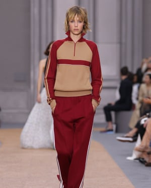 Making tracks … Waight Keller luxe tracksuit for Chloé.