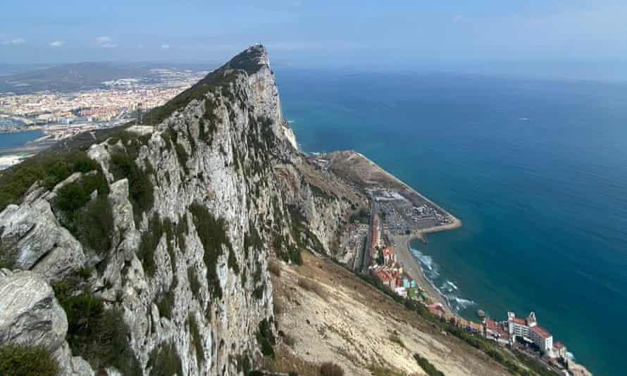 نمایی از صخره ، جبل الطارق